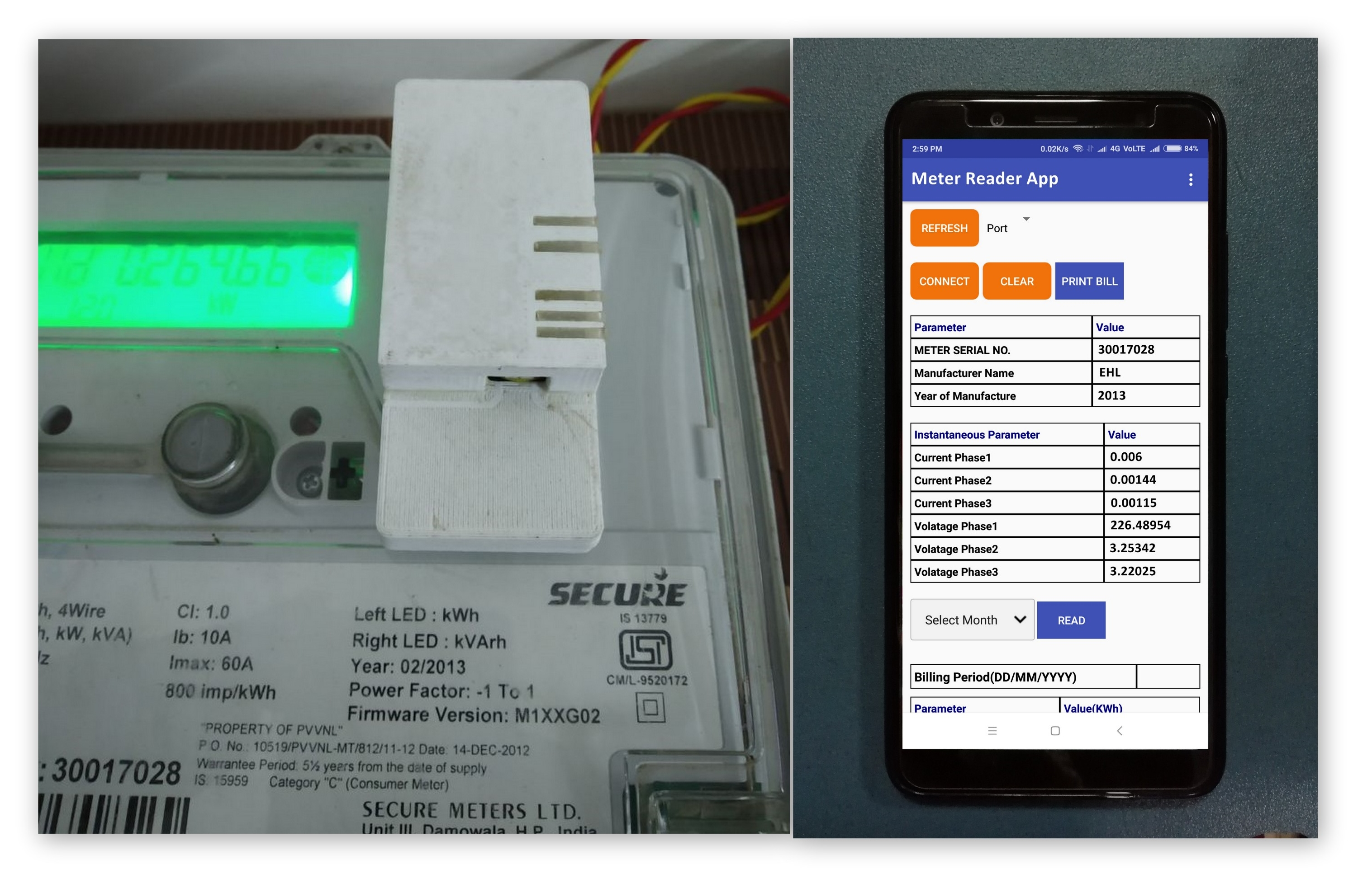 Automatic meter reader Android app India